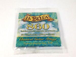 La-Bella-Cordes-Guitare-Elite-classique-860-2nd-3rd-Nylon-plaie-sur-Nylon