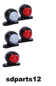 5-X-24V-Rouge-Blanc-Petit-LED-Feux-de-Gabarit-Camion-Caravane-Remorques
