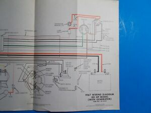 1967 Johnson Outboard Motors 40hp With Generator Model Wiring Diagram Js 4292 Ebay