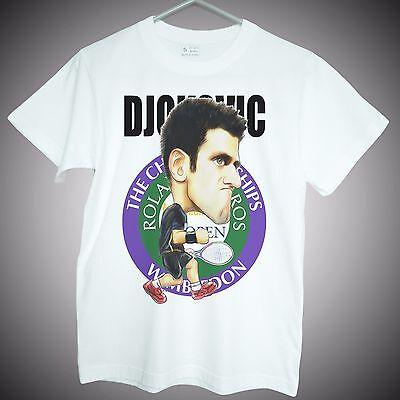 Andy Murray Tshirt Mens White 100/% Cotton Tennis T-shirt Top Tee Good Quality