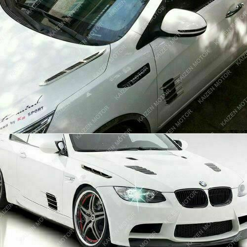2x Air Vent Fender Stick On Decal Trim Sticker For Hood Grille Side Door