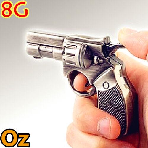 Smith/&Wesson USB Stick 8GB Stainless Revolver USB Flash Drives WeirdLand