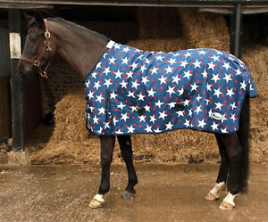 Rhinegold-Star-lightweight-turnout-rug-rain-sheet-horse-amp-pony-sizes-in-stock