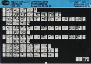 100% De Qualité Audi 4000 _ Coupe _ 1980-1983 _ Repair Manual _ Clutch Transmission _ Fiche _ Microfich _ Fich-0-1983_repair Manual_clutch Transmission_fiche_microfich_fich Fr-fr Afficher Le Titre D'origine De Haute Qualité Et Peu CoûTeux