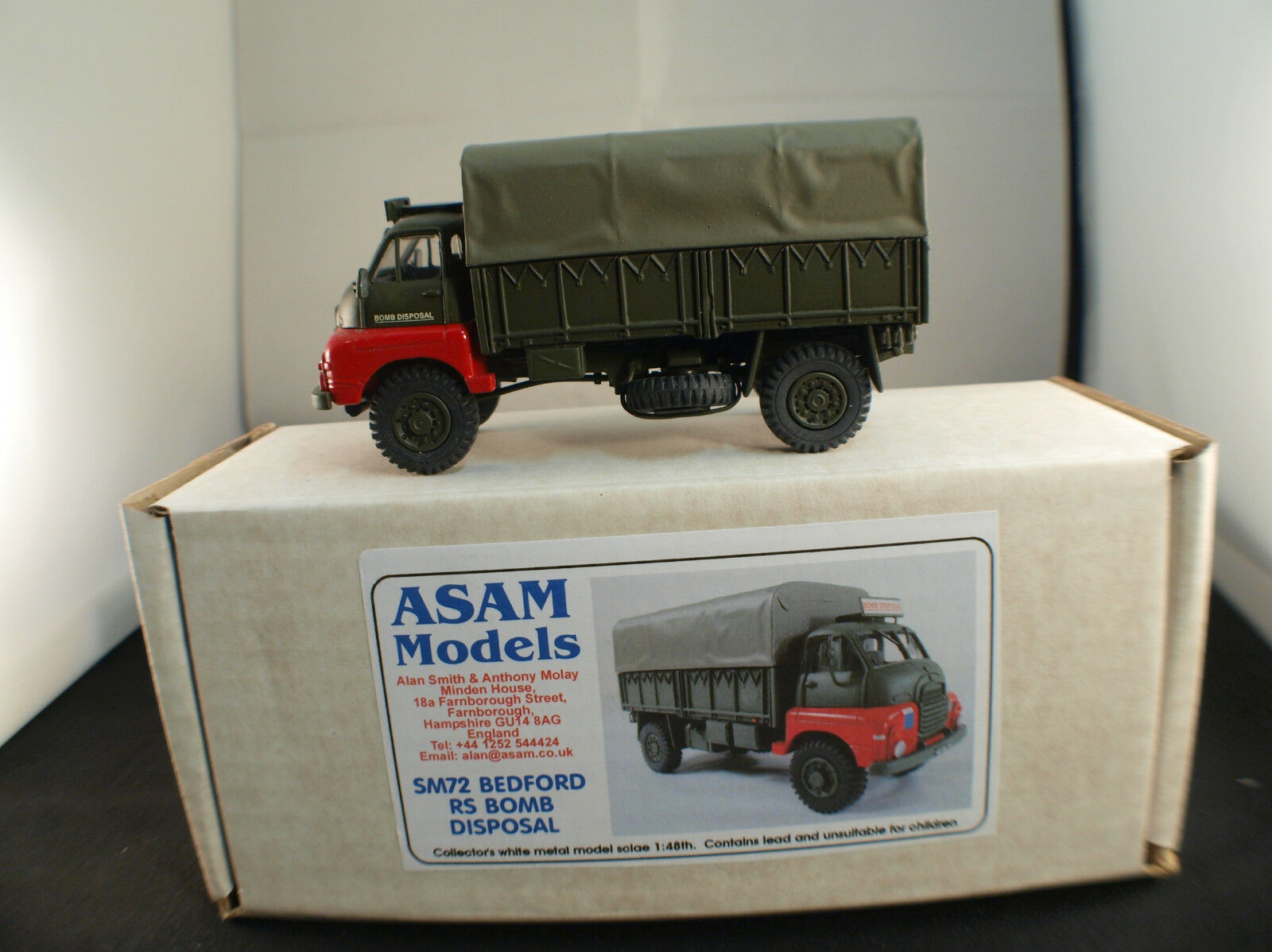 Asam Models Sm72 Bedford Rs 4x4 Bomb Covered Army British New Mint MIB