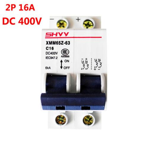 DC 400V 6KA Miniature Circuit Breaker 2P 2 Pole 16A Air Switch PV Solar System