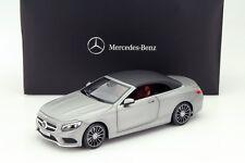 Norev 2015 Mercedes Benz S Classe Cabrio A217 Matt Silver Dealer Ed 1/18 In Stok