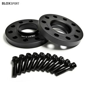 2 X 20MM WHEEL SPACERS HUBCENTRIC ALLOY SPACERS BLACK BOLTS /& LOCKING BOLTS