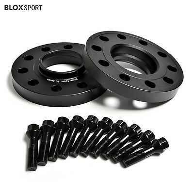 15MM Hubcentric Wheel Spacers Black Tapered Bolts BMW 5x120 72.5 14x1.5