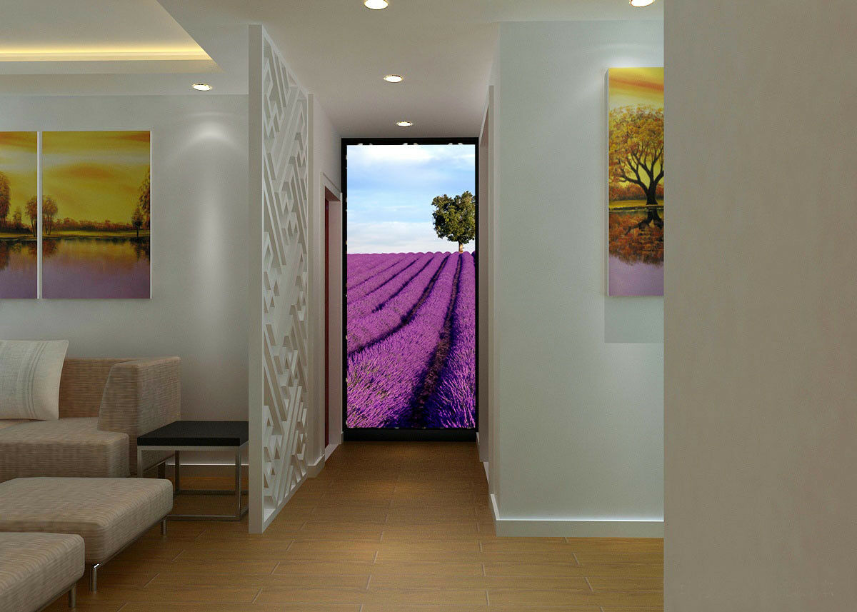 3D Lavender Field 52 Wall Paper Wall Print Decal Wall Deco Indoor Mural Lemon