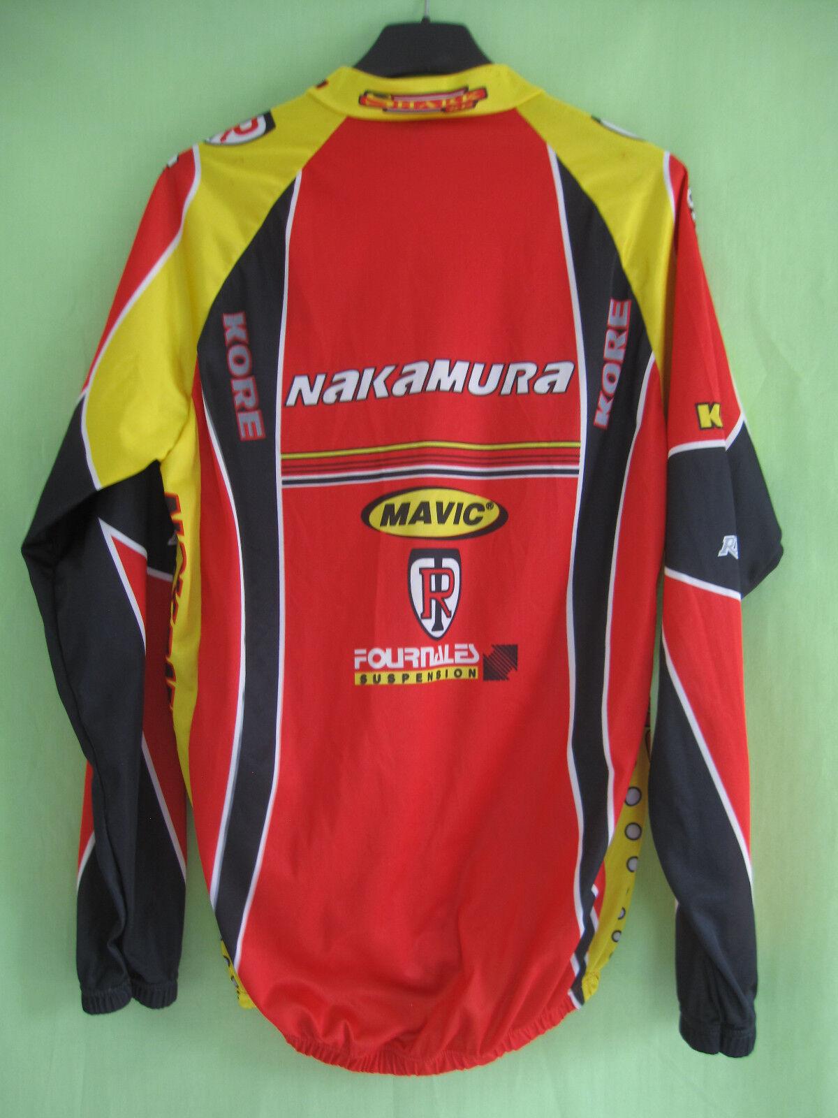 Veste cycliste Nakamura Team Hutchinson Coupe vent stop Mavic Wind Mavic stop Vintage - S fb9f09