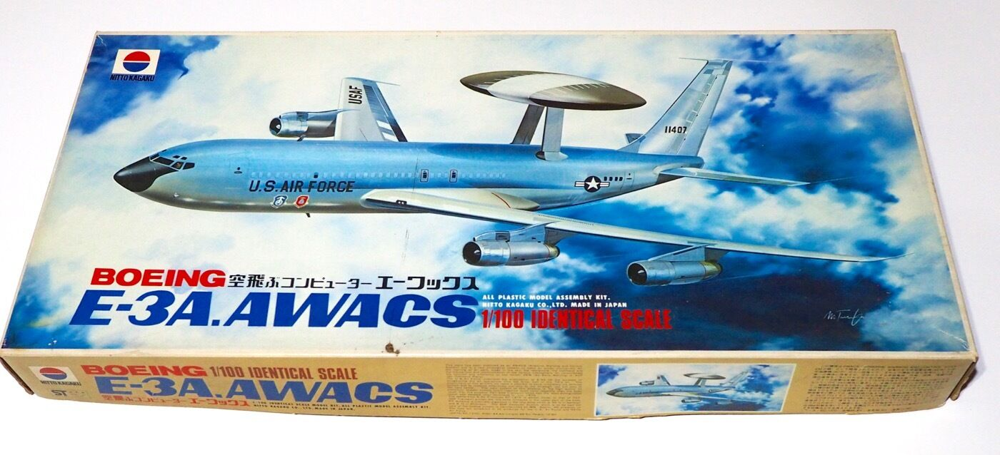 1  100 Nitto US Air Force E -3A AWACS Plastic modelllllerler Kit fri Shipping