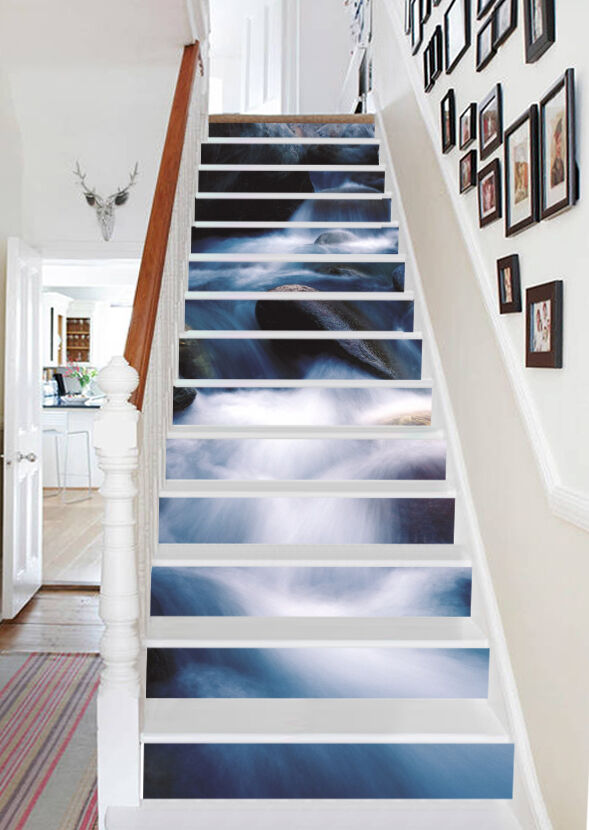 3D bianca stream 89 Stair Risers Decoration Photo Mural Vinyl Decal Wallpaper AU