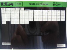 Kawasaki KZ550 LTD 1980 - 1981 Part Microfiche NOS k331