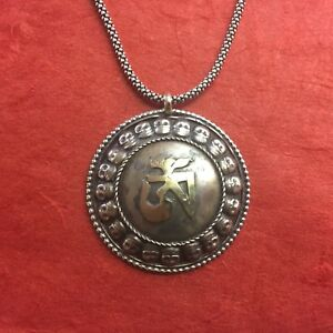 Om and skull circular tibetan script buddhist pendant tibetan sivler image is loading om and skull circular tibetan script buddhist pendant aloadofball Image collections