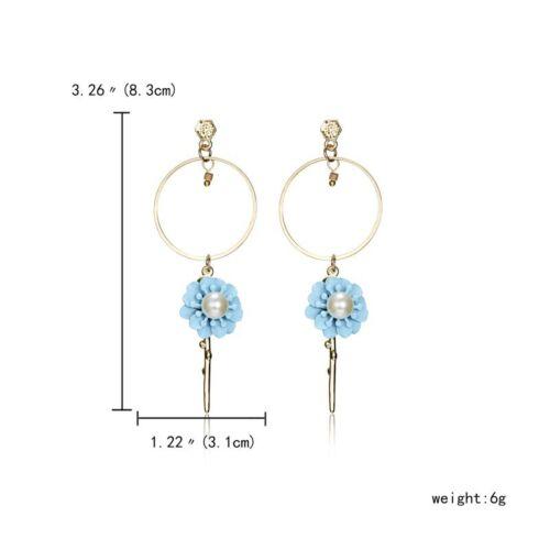 Elegant Geometry Long Tassel Flower Drop//Dangle Ear Stud Earrings Women Jewelry