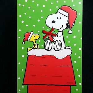 Snoopy Christmas Cards.Details About Christmas Cards Peanuts Snoopy Boxed Hallmark Woodstock Charlie Brown Doghouse