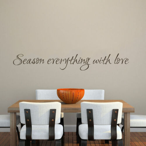 Season Everything With Love Wall Decal Inspired Kitchen Saying Vinyl Mural Decor