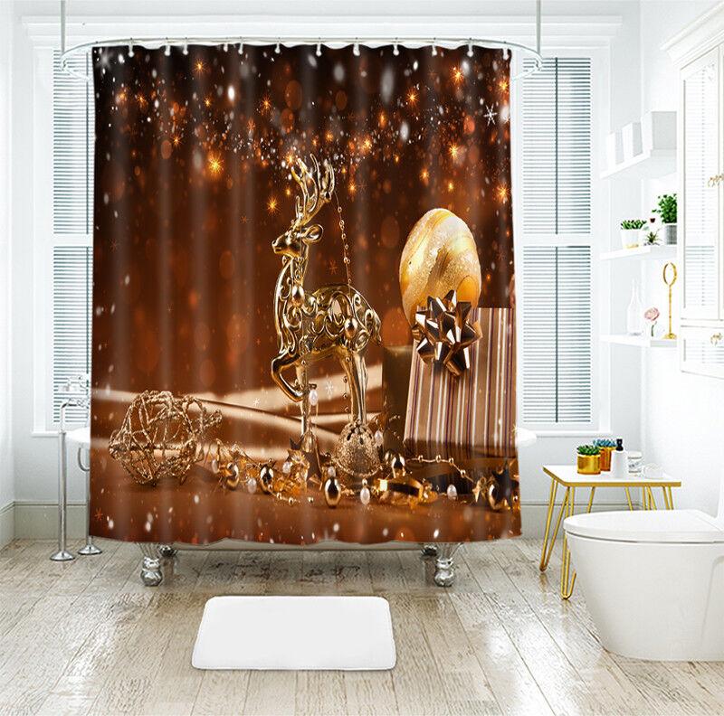 3D Weihnachten Xmas Xmas Xmas 6 Duschvorhang Wasserdicht Faser Bad Daheim Window Toilette cc3428