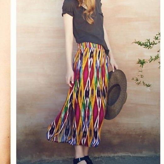 Anthropologie apolline maxi skirt, size medium