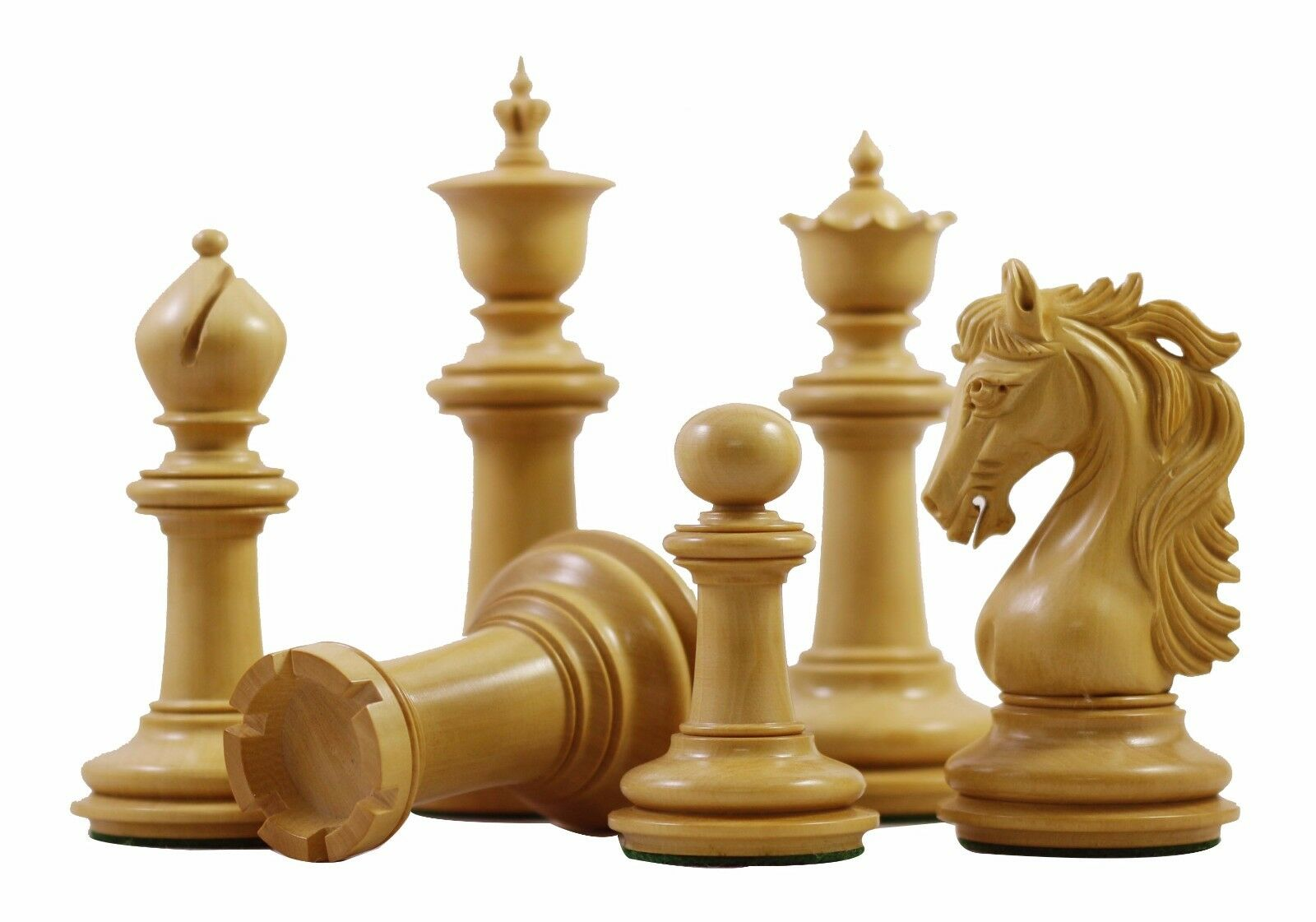 Danum Series 4.4 inch Premium Chessmen in in in Genuine Ebony and Box wood 8dd589