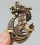 48MM-Curio-Chinese-Bronze-Animal-Lucky-Dragon-Boat-Ship-Wealth-Small-Pendant thumbnail 3