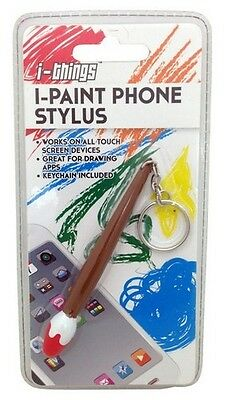 I-Paint Phone Stylus Keychain Key Chain Paint Brush Touch Screen Artist Gag Gift