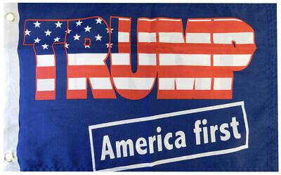 "12x18 Trump 2020 Keep America First Blue 100D Woven Poly Nylon 12/""x18/"" Flag"