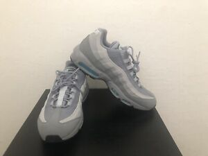 Nike Air Max 95 Men S Size 12 Particle Grey Black Blue Fury Ebay