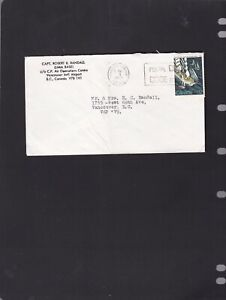 Canada 1984 VANCOUVER  BC  ON A CAPT. ROBERT B, RANDALL  C.P. COVER