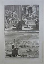 BERNARD PICART GRAVURE 1724 DIVINITE JAPON ORIGINAL ENGRAVING 18è
