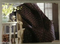 Croscill Royalton Full/queen Coverlet Dark Brown & Aqua Diamond Quilt Throw 90