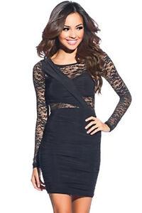 c414835f9234 Caricamento dell immagine in corso Mini-abito-donna-in-pizzo-nero-vestito- elegante-