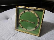 Antique Art Deco, Swiss Made Bronze Caldwell Style Desk Clock, Working!