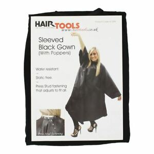 Hairtools Sleeved Black Gown With Poppers
