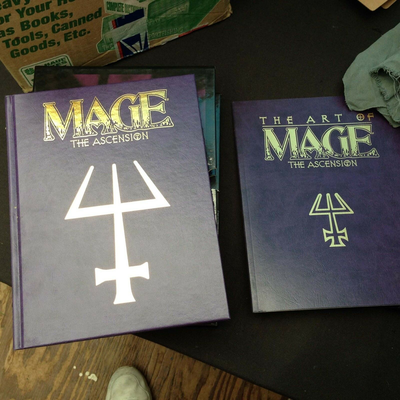 MAGE The Ascension Special Box Set (2 books- Ascension Ascension Ascension and The ART of Mage) New 719141