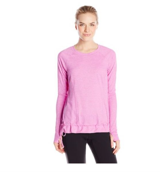 NWT Lucy Women's Jog For Joy Long Sleeve T-shirt X-Small XS Pink Heather