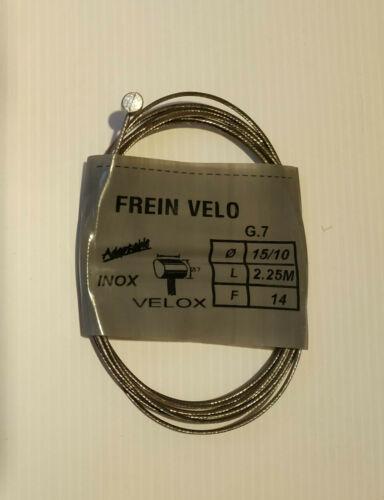 Cable de frein arrière 2,25 m pour VTT en inox vélo vintage Velox made in France