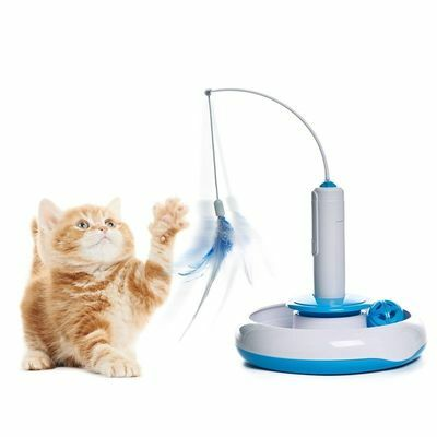Cat Kitten Pet Puppy Puzzle Toy Electric Automatic Rotating Play Interactive Toy