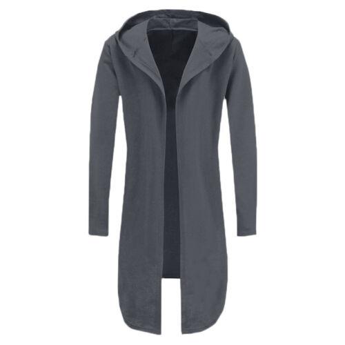 Autumn Men Winter Long Sleeve Trench Hoodie Cloak Drape Solid Coat Jackets