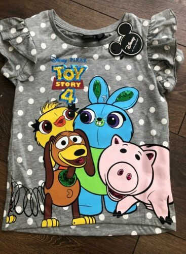 PRIMARK GIRLS TOY STORY 4 T-SHIRT DISNEY BNWT ALL AGES