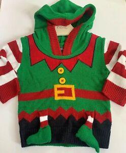 Baby Toddler Boys Santa/'s Little Helper Elf Christmas Novelty Knitted Jumper