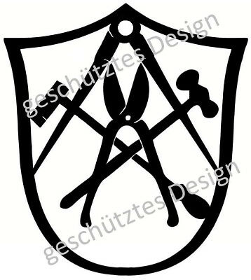 Zimmermann Guild Sign Emblem Decoration Logo 40 to 100 cm from 3 mm Steel from 49, €
