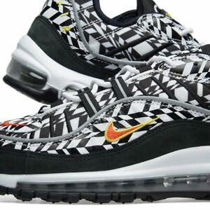 Details about Nike Air Max 98 AOP ALL OVER PRINT WHITE TEAM ORANGE BLACK AQ4130 100 sz 7 15