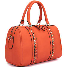 New Dasein Women Leather Satchel Handbag Purse Briefcase Hobo Tote Shoulder Bag