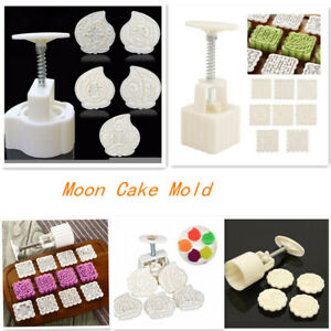 50g//70g//125g Round//Square Moon Cake Mold Flower Stamps Baking Tool Party *