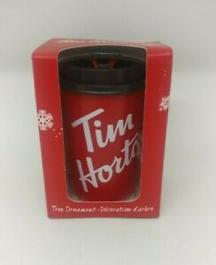 Tim-Hortons-Coffee-Mini-Cup-Christmas-Tree-Decoration-Red-Hanging-Ornament-2019