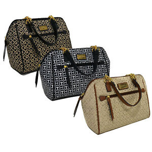 Image Is Loading Tommy Hilfiger Womens Purse Arm Bag Satchel Chain