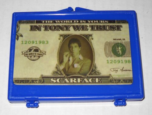 """NEW Scarface or Tupac//2PAC Plastic Snap Lock Storage Case 3/"""" x 3-3//4/"""" x 3//8/"""""""