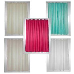 blue canyon shower curtains plain cream white raspberry blue vanilla 180x180 cm ebay. Black Bedroom Furniture Sets. Home Design Ideas